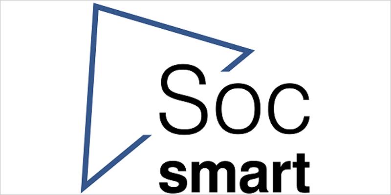"""Logotipo del distintivo """"Soc Smart"""", un sello de calidad que acreditará a los ayuntamientos catalanes como ciudades inteligentes."""