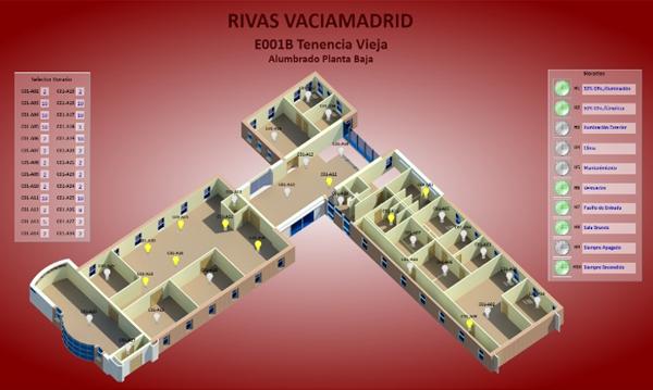Figura 2. Alumbrado de planta de un edificio.