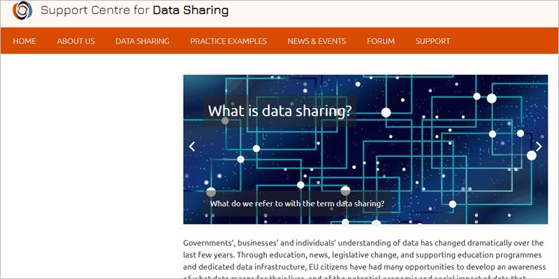 Página web del Centro de Soporte para el Intercambio de Datos (SCDS).