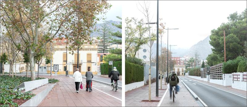 Figura 4. Fotografías del demostrador ejecutado en calle Torre Sant Vicent (Benicàssim).