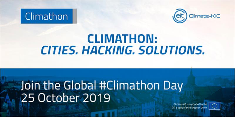 Cartel que anima a unirse al Climathon del próximo 25 de octubre