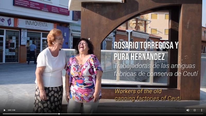 Fotograma vídeo que aparecen dos extrabajadoras de la fábrica Ceutí.
