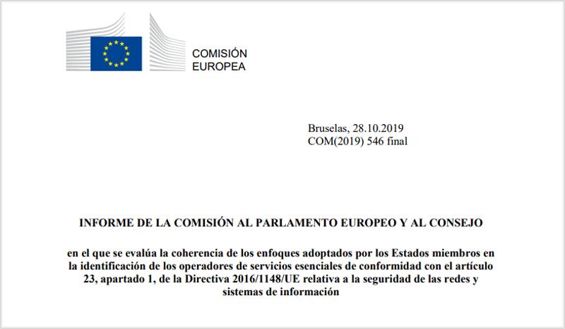 Portada del informe de la Comisión Europea