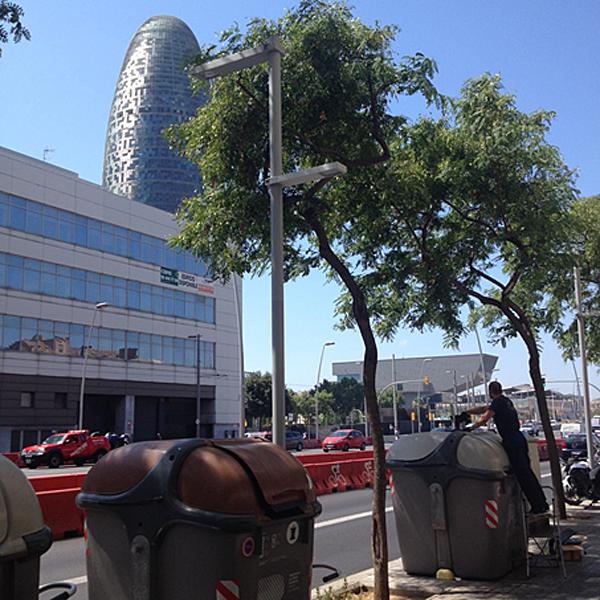Figura 2. Instalación de sensores volumétricos en la ciudad de Barcelona.