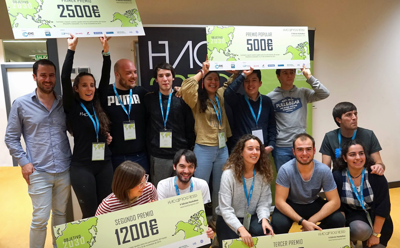 Ganadores de los premios del V Hack2Progress