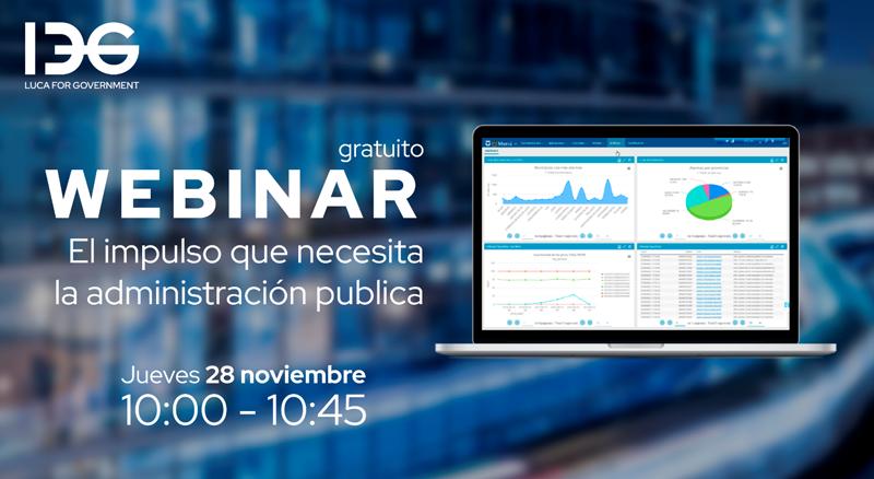Cartel seminario online webinar gratuito 'El impulso que necesita la administración pública'