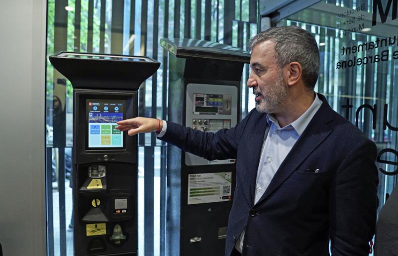 nuevo parquímetro en Barcelona