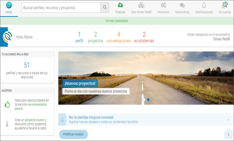 captura de la pantalla inicial de smart redr