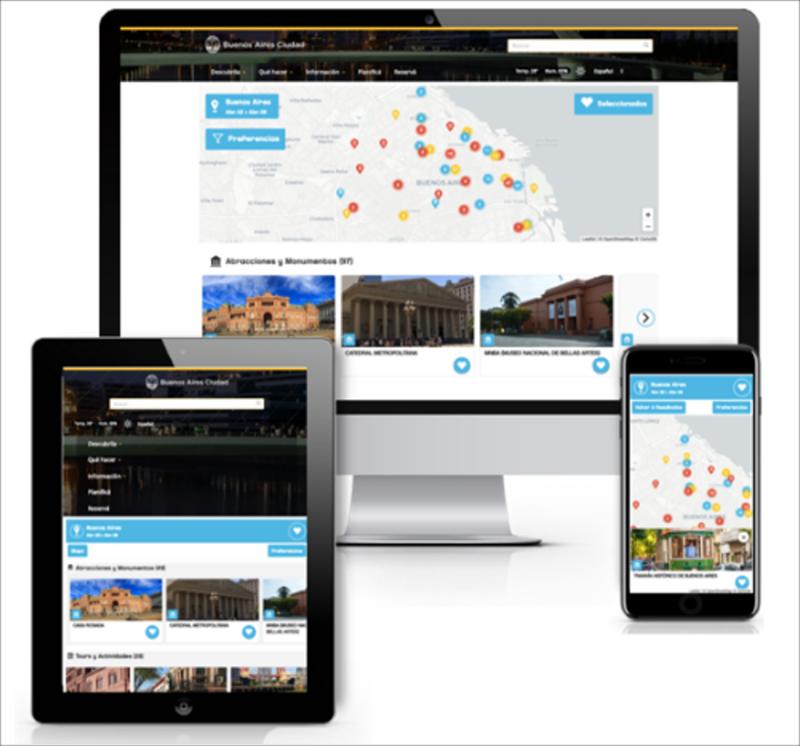"""Figura 4. Componente """"BA Planner"""" integrado en la web de Turismo de la Ciudad de Buenos Aires."""