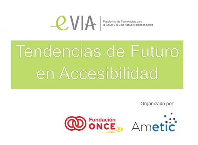 Cartel Tendencias de futuro en accesibilidad