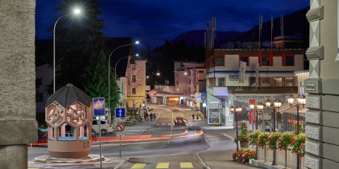 Signify conecta la iluminación de la ciudad suiza de Davos con Interact City para su telegestión