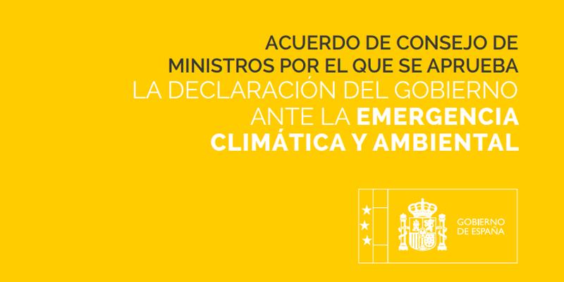 Acuerdo Declaración ante la Emergencia Climática y Ambiental