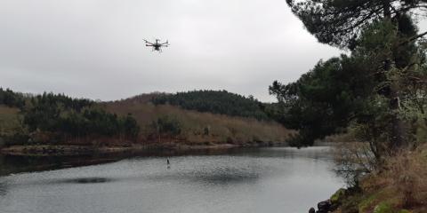 Pontevedra acoge las primeras pruebas del dron español que analiza la calidad del agua de ríos y costas