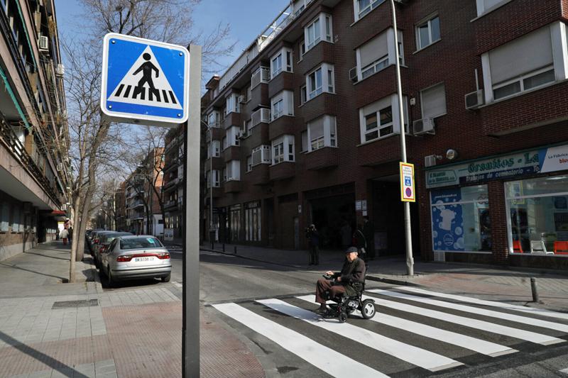 paso de peatones inteligente en Ciudad Lineal, Madrid
