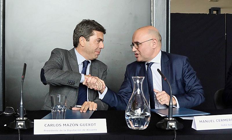 La Diputación de Alicante y Suez firman un convenio