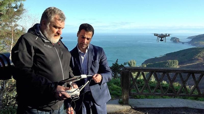 drones y control satelital para vigilar deslizamientos en Vizcaya
