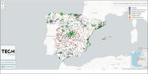 TECH Friendly elabora un mapa digital sobre el riesgo potencial del COVID-19 en residencias de ancianos