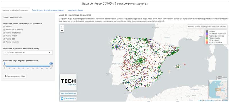 Mapa de riesgo COVID-19 en personas mayores (vol. I)