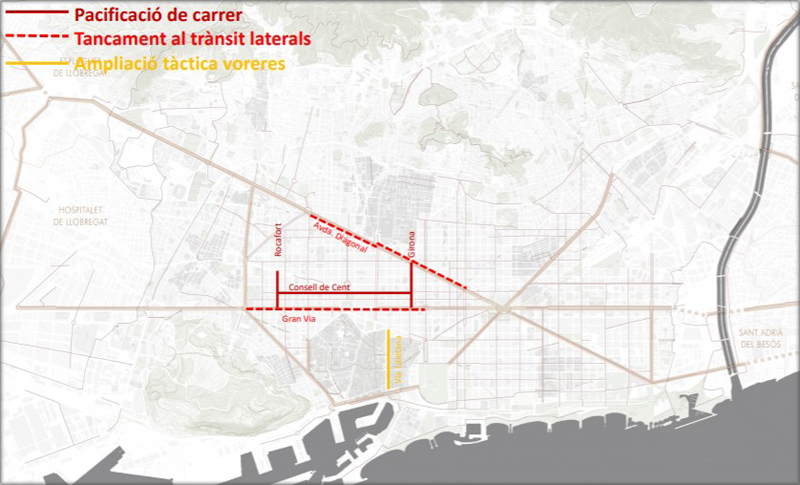 Gran Vía y Avenida Diagonal
