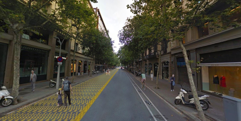 zona peatonal Barcelona