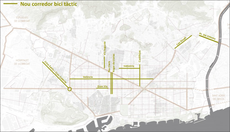 nuevo plano del carril bici Barcelona