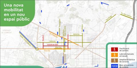 La ciudad de Barcelona transforma su movilidad urbana para adaptarse a la salida progresiva del confinamiento