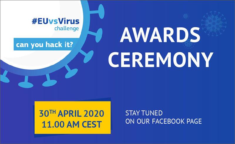 ceremonia de entrega de premios de EuvsVirus