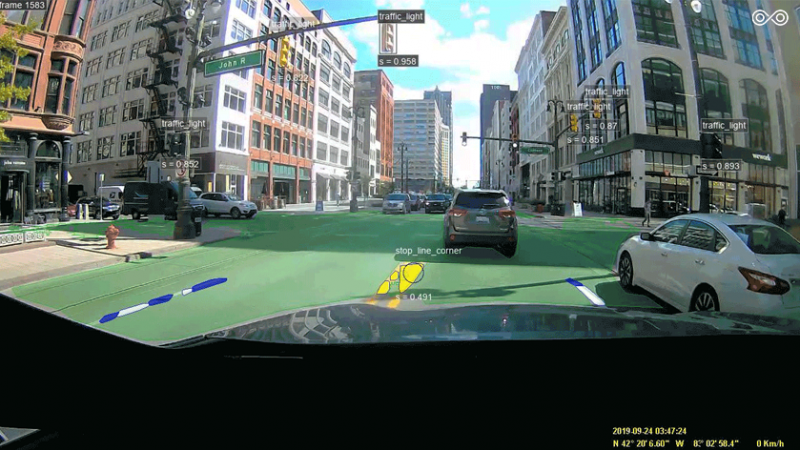 Imagen captada por cámara de vehículo autónomo