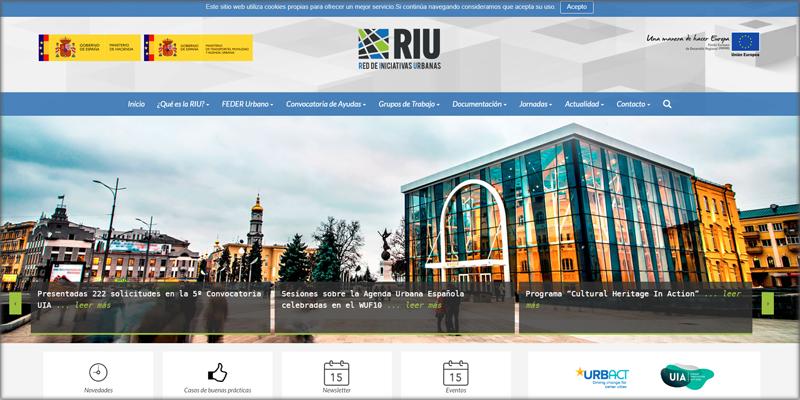 Nueva web de la RIU