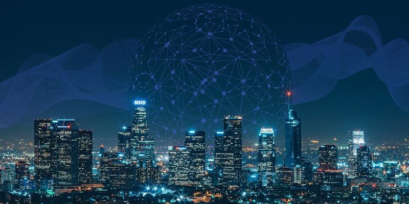 Una ciudad inteligente que utiliza las TIC para una mejor gestión y prestación de servicios.