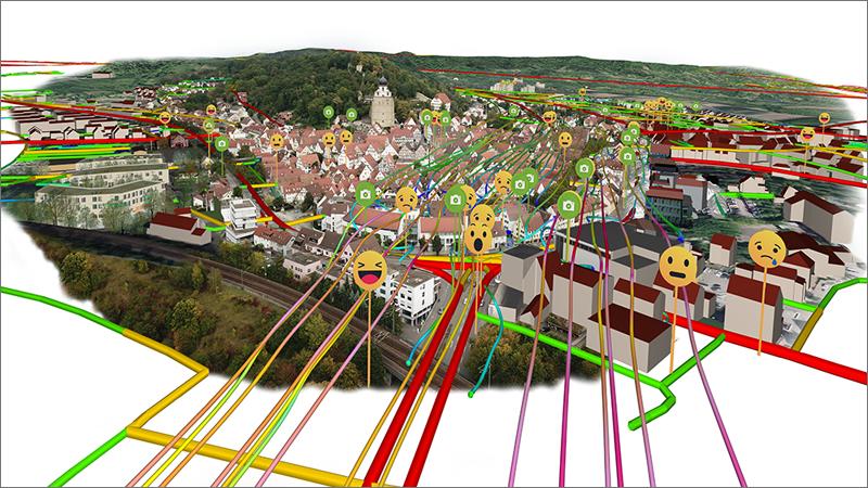 Una novedad del gemelo digital de Herrenberg es que incluye las emociones de los ciudadanos