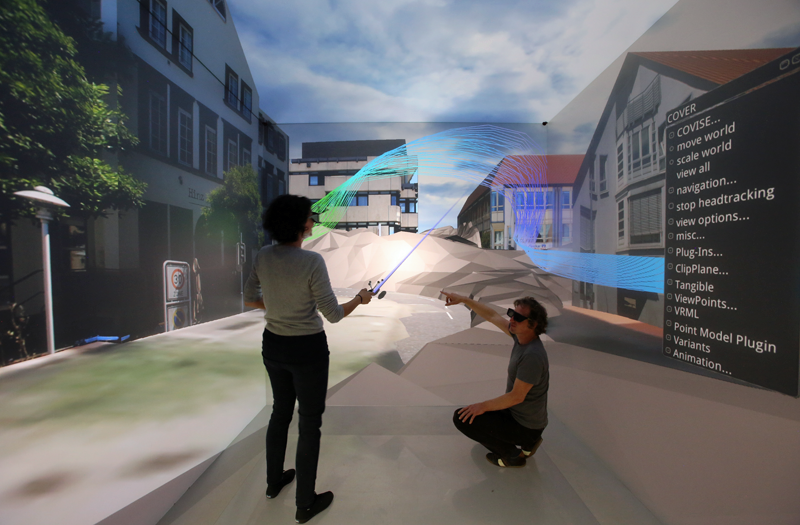 realidad virtual para visualizar el gemelo digital de una ciudad
