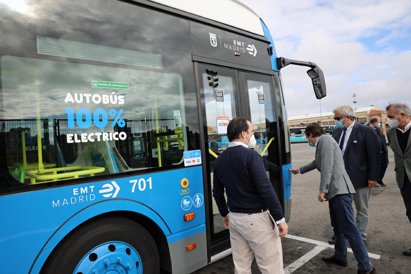 autobuses eléctricos EMT de Madrid