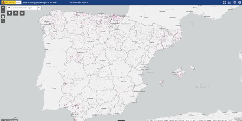 mapa final de las zonas blancas y grises NGA 2020