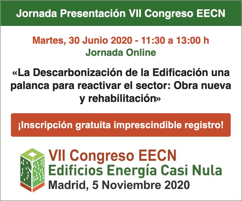 jornada online de presentación del VII Congreso Edificios Energía Casi Nula