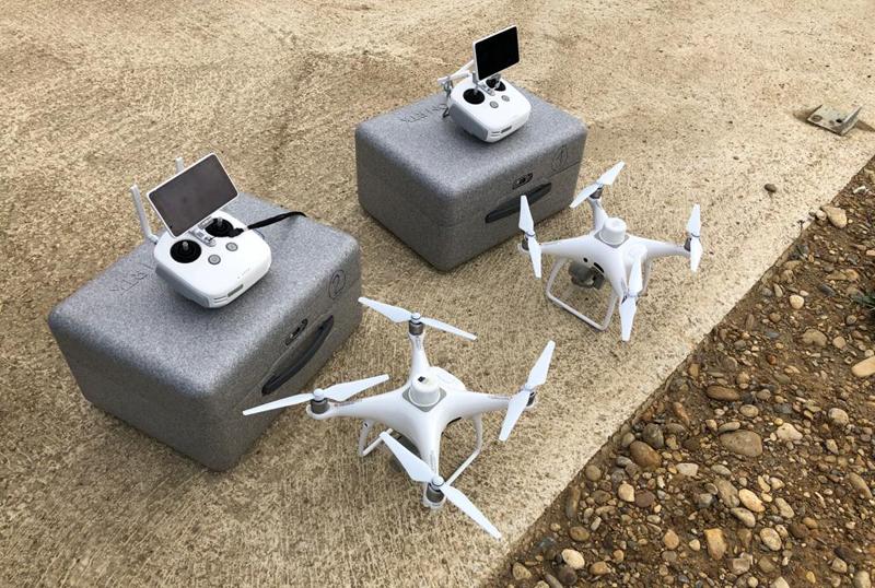 drones de Navarra para obras públicas