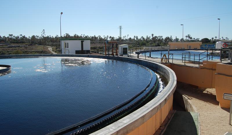 monitorización de aguas residuales de la depuradora de Algorós de Elche