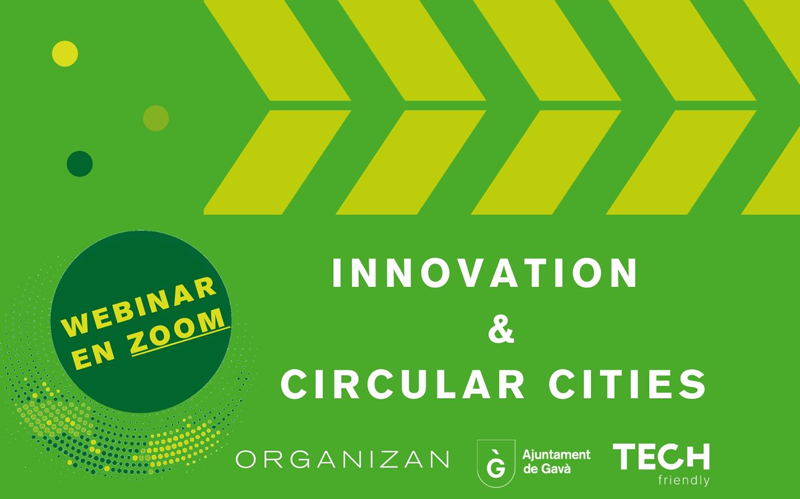 cartel del webinar Innovation & Circular Cities