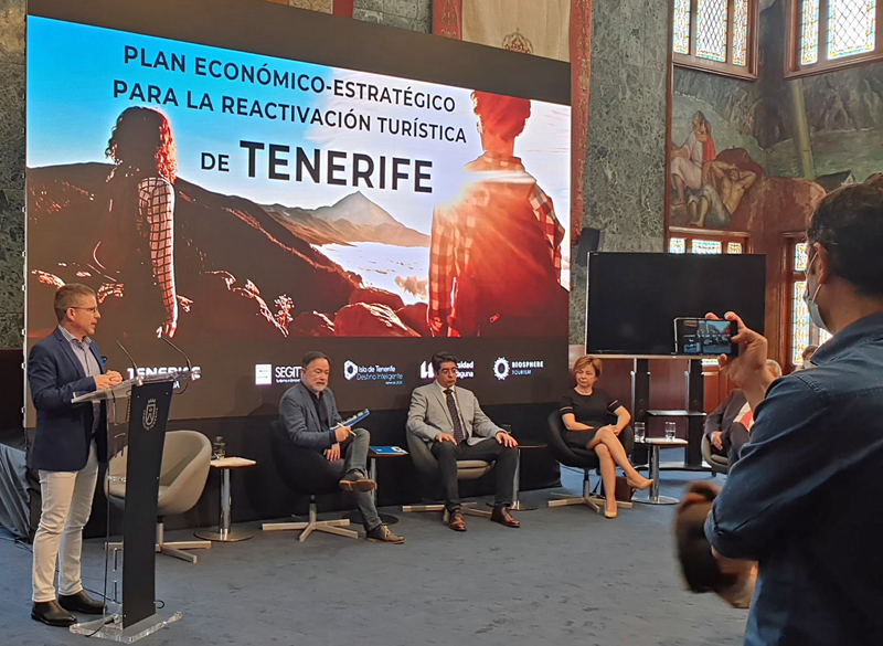 presentación del plan de Tenerife para reactivarse como destino turístico inteligente y sostenible