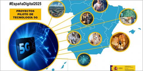 Adjudicados ocho nuevos proyectos piloto 5G que se desarrollarán en 2020 y 2021