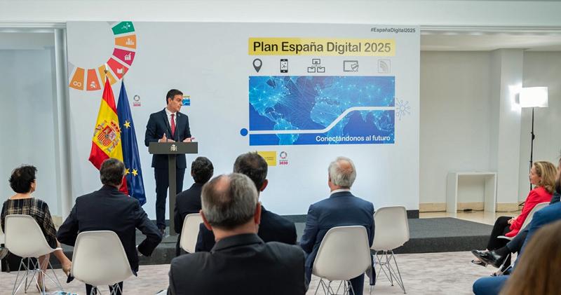 Pedro Sánchez en la presentación 'España Digital 2025'