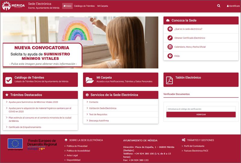 Mérida avanza en su estrategia EDUSI con la implantación de su nueva sede electrónica