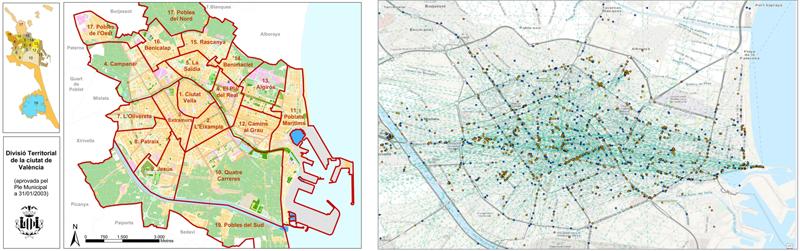flujos de tráfico del proyecto piloto de Ford Mobility en Valencia