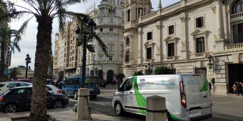 Proyecto piloto de Ford Mobility en Valencia para el desarrollo de la movilidad comercial conectada y electrificada