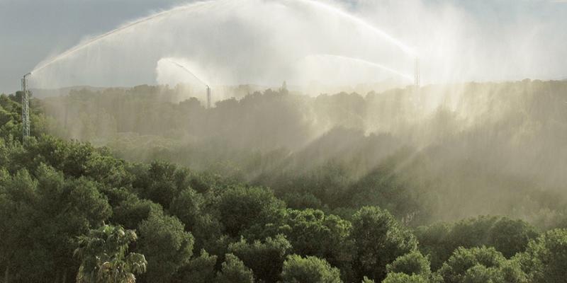 sistema de agua regenerada para incendios forestales