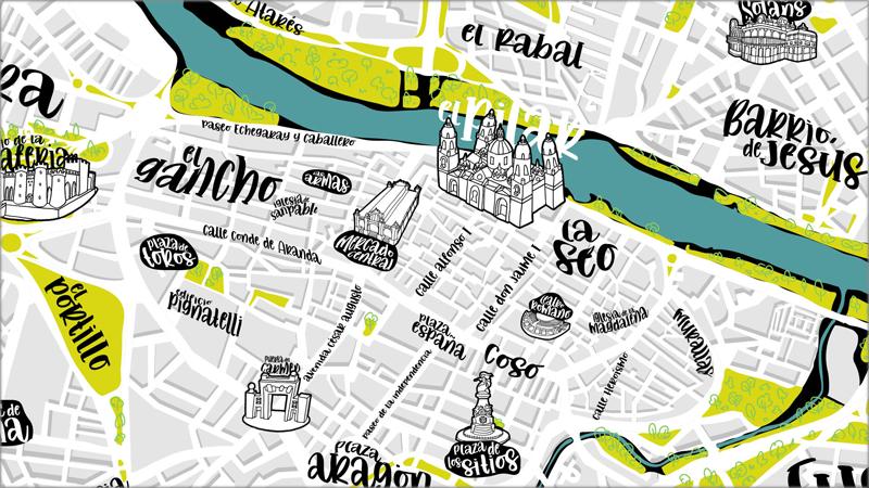 mapa digital e interactivo de Zaragoza
