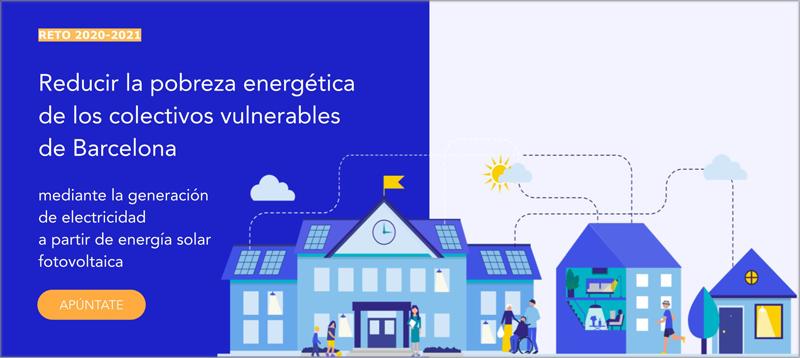 reto para reducir la pobreza energética de DataCIty Lab en Barcelona
