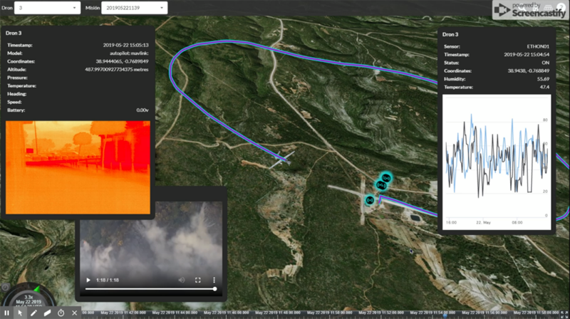 información de un dron de Etra