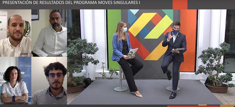 presentación de resultados del Programa Moves Proyectos Singulares