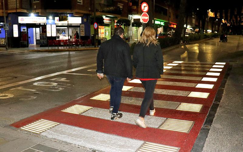 paso de peatones inteligente en Torrent, Valencia